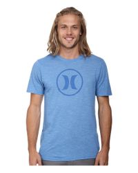 Hurley | Blue Icon Tri-blend Tee for Men | Lyst