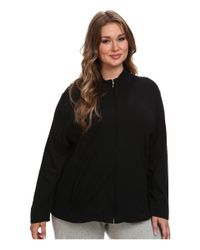 Lauren by Ralph Lauren Black Plus Size Essentials Lounge Lounge Jacket
