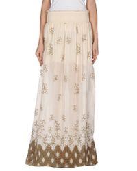 Patrizia Pepe - White Long Skirt - Lyst