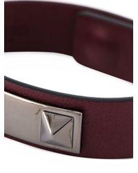 Valentino   Red 'rockstud' Bracelet for Men   Lyst