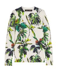 Proenza Schouler - Green Printed Wool-blend Sweater - Lyst