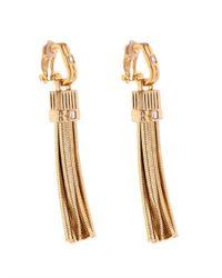 Lanvin Metallic Art Deco Tassel Earrings