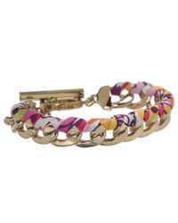 Vera Bradley - Metallic Braided Chain Bracelet - Lyst