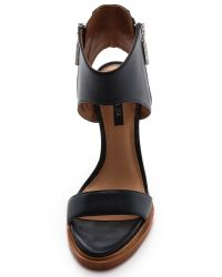Rachel Zoe Blue Jamie Cuffed Sandals - Tan