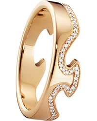 Georg Jensen | Metallic Fusion End 18ct Rose-gold And Diamond Ring | Lyst
