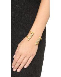 Madewell - Metallic Luna Bar Cuff Bracelet - Lyst