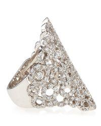 Roberto Coin - White Tapered Mauresque Filigree Diamond Ring - Lyst