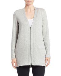 Eileen Fisher Blue Petite Long Sweater Jacket