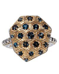 Stephen Dweck Metallic Gold Galactical Honeycomb Ring