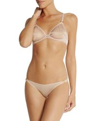 L'Agent by Agent Provocateur Pink Alyce Shimmer Stretch-Mesh Underwired Bra