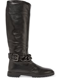 Giuseppe Zanotti Black Chain-embellished Leather Boots