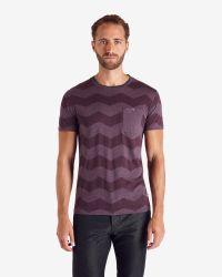 Ted Baker - Purple Zigzag Print T-shirt for Men - Lyst