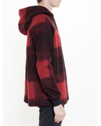 Astrid Andersen | Red Checked Hoodie for Men | Lyst