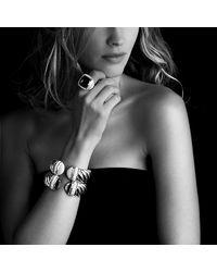 David Yurman - Black Waverly Bracelet With Diamonds, 25mm - Lyst