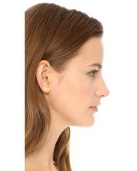 Marc By Marc Jacobs Metallic Wildflower Stud Earrings - Oro