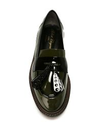 Robert Clergerie Green Tassel Loafers