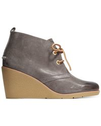 Sperry Top-Sider | Gray Women's Harlow Wedge Booties | Lyst