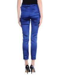P.A.R.O.S.H. - Blue Casual Trouser - Lyst