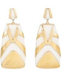 Maiyet | Metallic Horn & Brass tiger Stripe Earrings | Lyst