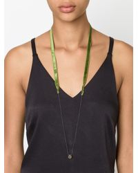 Dosa | Green Pyrite Necklace | Lyst