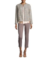Lafayette 148 New York - Blue Gibson Taira Tweed Topper - Lyst