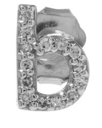 KC Designs | Metallic White Gold Diamond B Single Stud Earring | Lyst