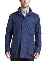 Peter Millar Blue Newport Lightweight Jacket for men