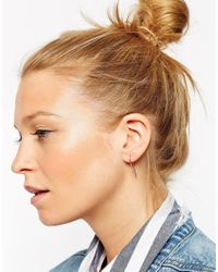 ASOS - Metallic Rose Gold Plated Sterling Silver Long Spike Through Earrings - Lyst