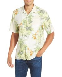 Tommy Bahama | Multicolor 'howzit Hibiscus' Short Sleeve Silk Sport Shirt for Men | Lyst