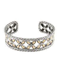 John Hardy - Metallic Kawung 18k Gold & Sterling Silver Cuff Bracelet - Lyst