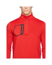 Ralph Lauren | Red Jersey Half-zip Pullover for Men | Lyst