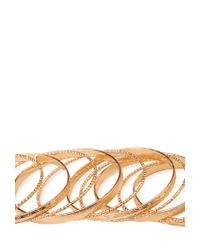 Forever 21 - Metallic Bold Frosted Bangle Set - Lyst