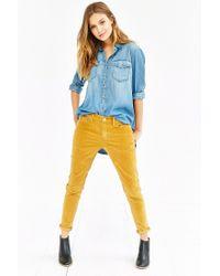 BDG Orange Corduroy Slim-fit Pant