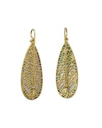 Yossi Harari - Metallic Lace Emerald Slice Earrings - Lyst