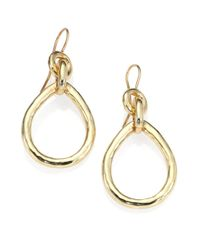 Ippolita - Metallic Glamazon 18K Yellow Gold Twist Snowman Drop Earrings - Lyst