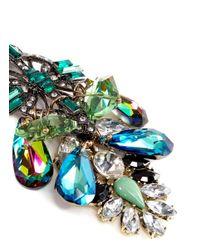 Anabela Chan | Green 'Sirens' Swarovski Crystal Chandelier Drop Earrings | Lyst