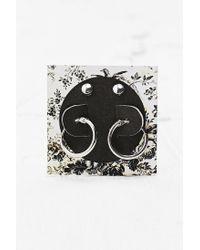 Urban Outfitters | Metallic Hoop Stud Earrings in Silver | Lyst