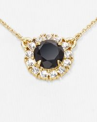 kate spade new york | Black Secret Garden Mini Pendant Necklace 16 | Lyst