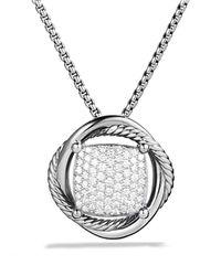 David Yurman | Metallic Infinity Medium Pendant With Diamonds On Chain | Lyst