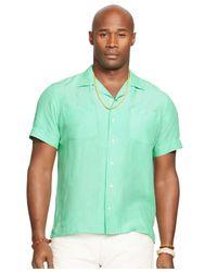 Polo Ralph Lauren Green Big And Tall Linen-silk Camp Shirt for men