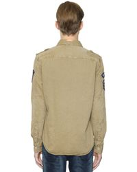 Superdry | Natural Cotton Drill Army Shirt for Men | Lyst