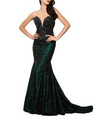 Mac Duggal - Black Embellished Sweetheart Mermaid Gown - Lyst
