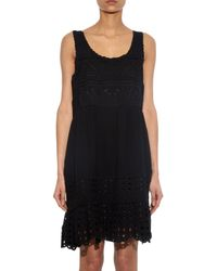 Sea Black Broderie-Anglaise Cotton Dress