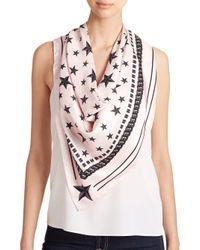 Givenchy Pink Stars Silk Scarf