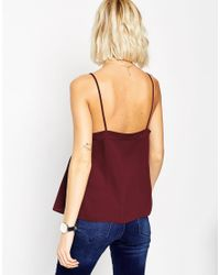 ASOS | Purple Soft Gathered Pretty Cami Top | Lyst