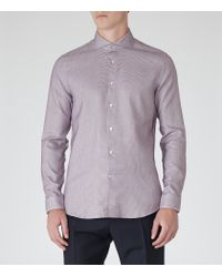 Reiss | Purple Derossi Slim-fit Patterned Shirt for Men | Lyst
