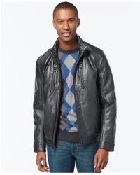 Michael Kors | Gray Michael Faux-leather Performance Jacket for Men | Lyst