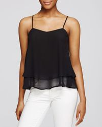 Aqua - Black Double Layer Cami - Lyst