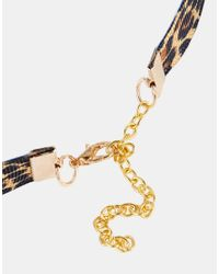 ASOS - Multicolor Leopard Print Choker Necklace - Lyst