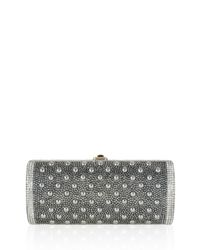 Judith Leiber Couture - Metallic Cylinder Beaded East-west Clutch Bag - Lyst